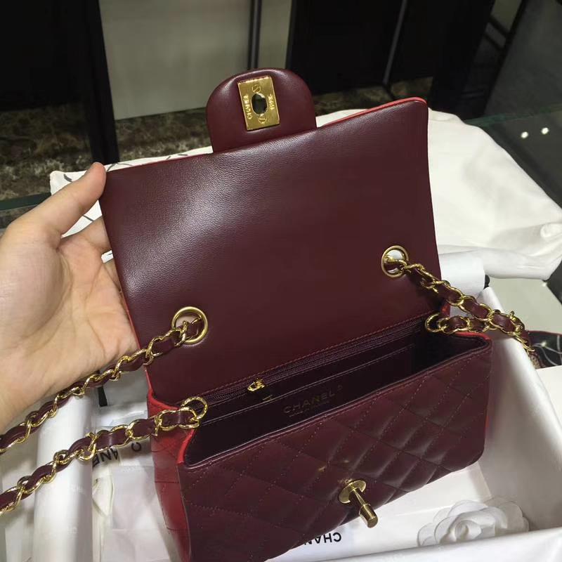 CHANEL 小香 Classic Flap Bag  进口小羊皮 20cm 感受细节 感受工艺 拼色 金扣