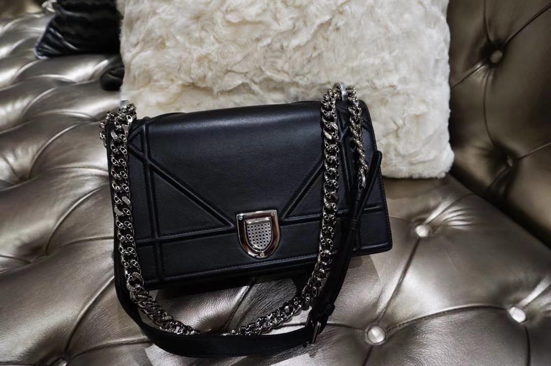 Dior腾格纹 黑色 牛皮 25cm 专柜同步