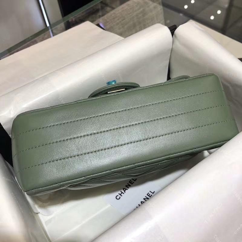 Chanel 香奈儿 V字绣 希腊绿 20cm 超美 少量现货 怀旧金