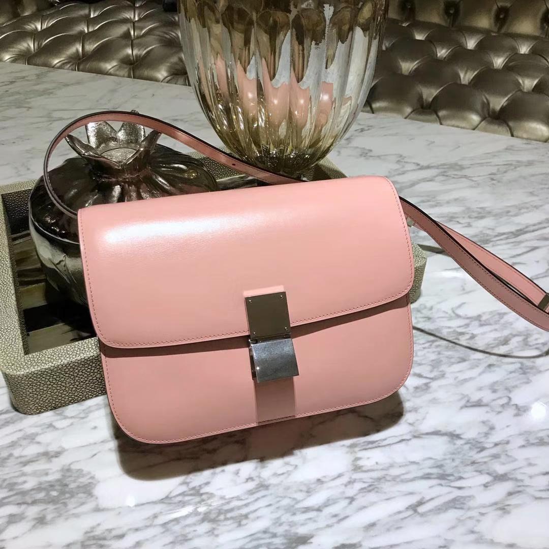 Celine 思琳 最新版本 box豆腐包 24cm 实拍 专柜同步 最新做法 优雅时尚粉色