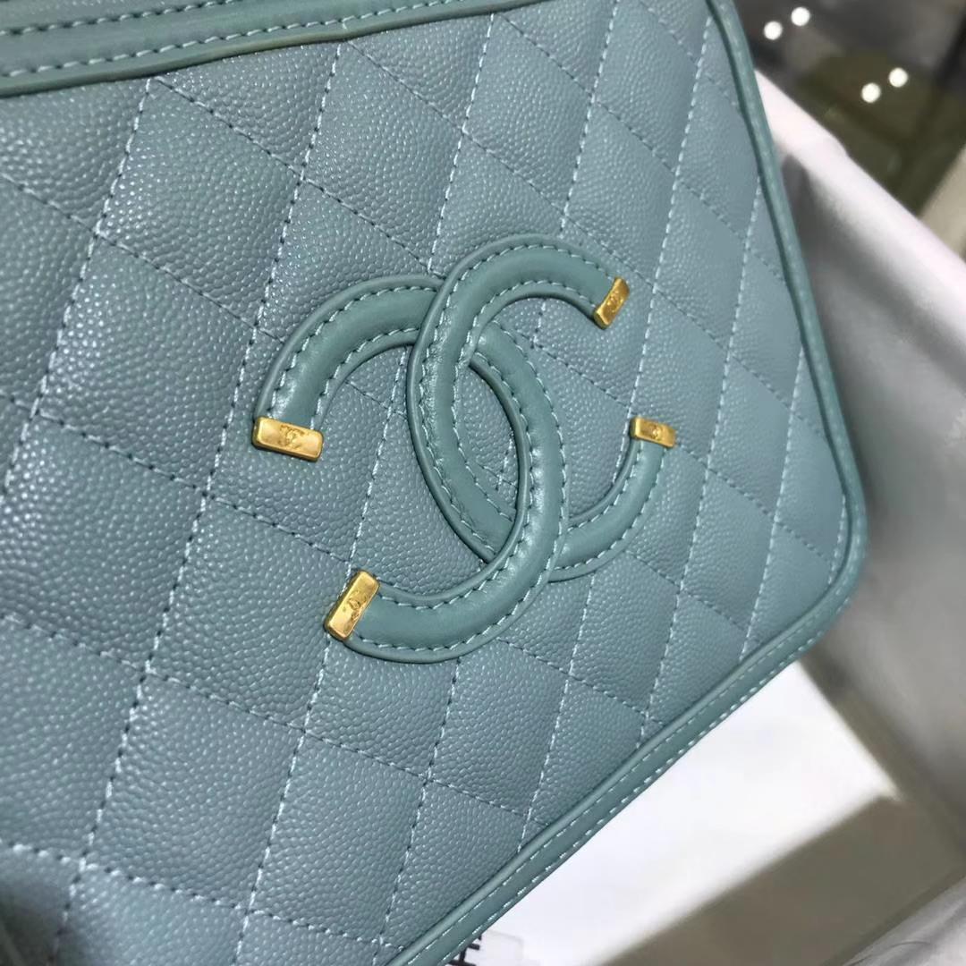 Chanel 香奈儿 化妆包 薄荷绿 21cm 现货