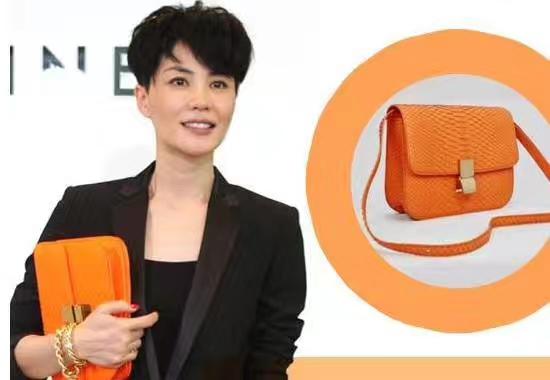 Celine 思琳 box豆腐包 蛇皮经典橙 天后王菲的最爱