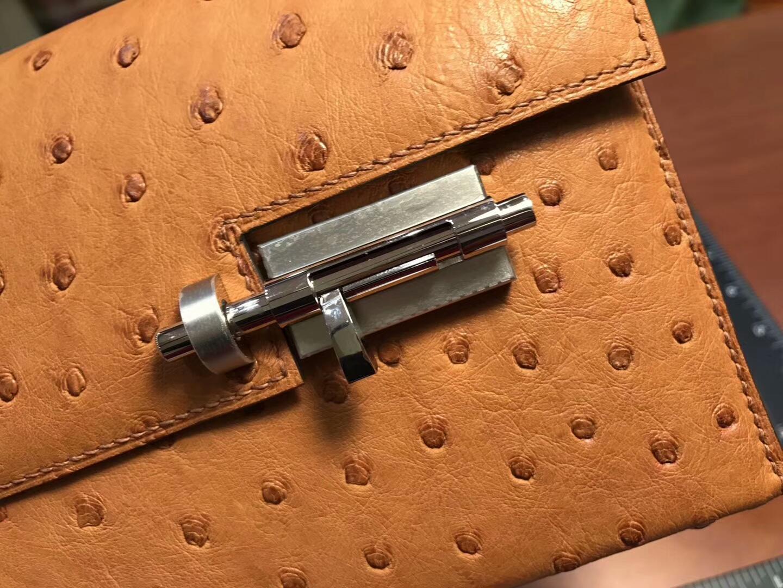 HERMES 爱马仕 手枪包 Verrou Chain 金棕 gold ck37 配全套专柜原版包装