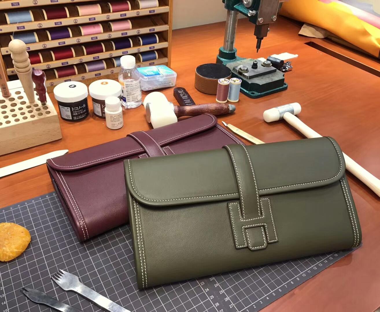 6H 橄榄绿 Vert Veronese HERMES 爱马仕 手包 配全套专柜原版包装