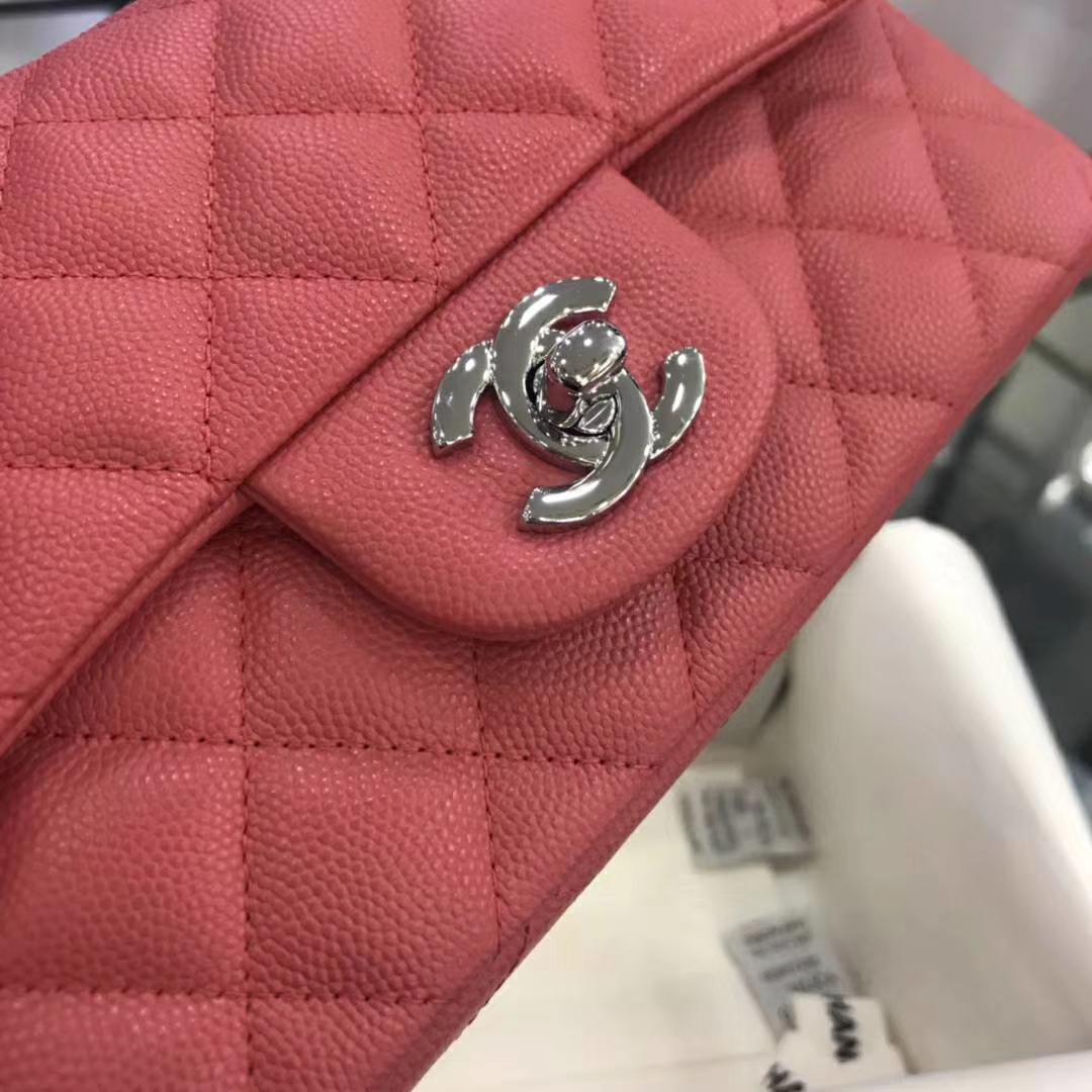 Chanel 香奈儿 CF系列 球纹西瓜红 20cm 客订出货