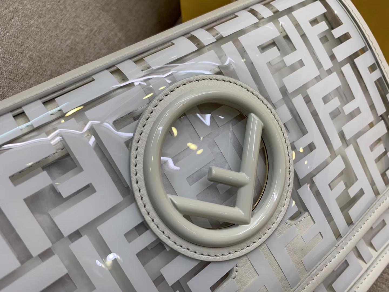 KANI F 系列翻盖手袋  F 新款标志 全透明的TPU 25cm