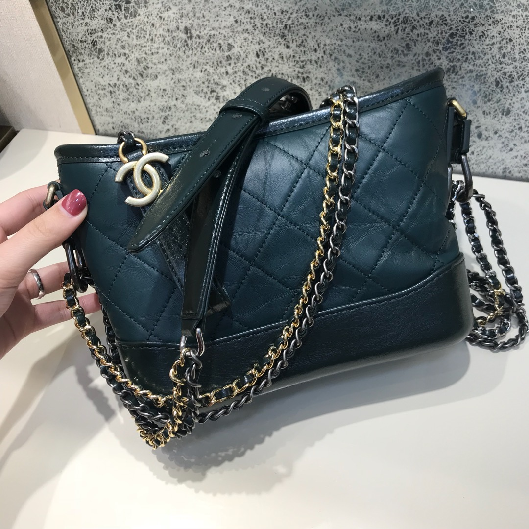 Chanel 香奈儿 Gabrielle 顶级代购版本 20cm 原厂树膏皮 绿色 特殊渠道原厂皮 少量现货