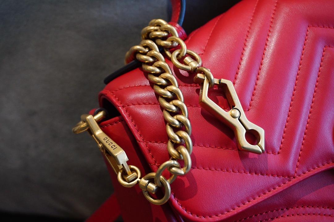广州代工厂Gucci 古驰 手提包/邮差包 红色 高级感十足