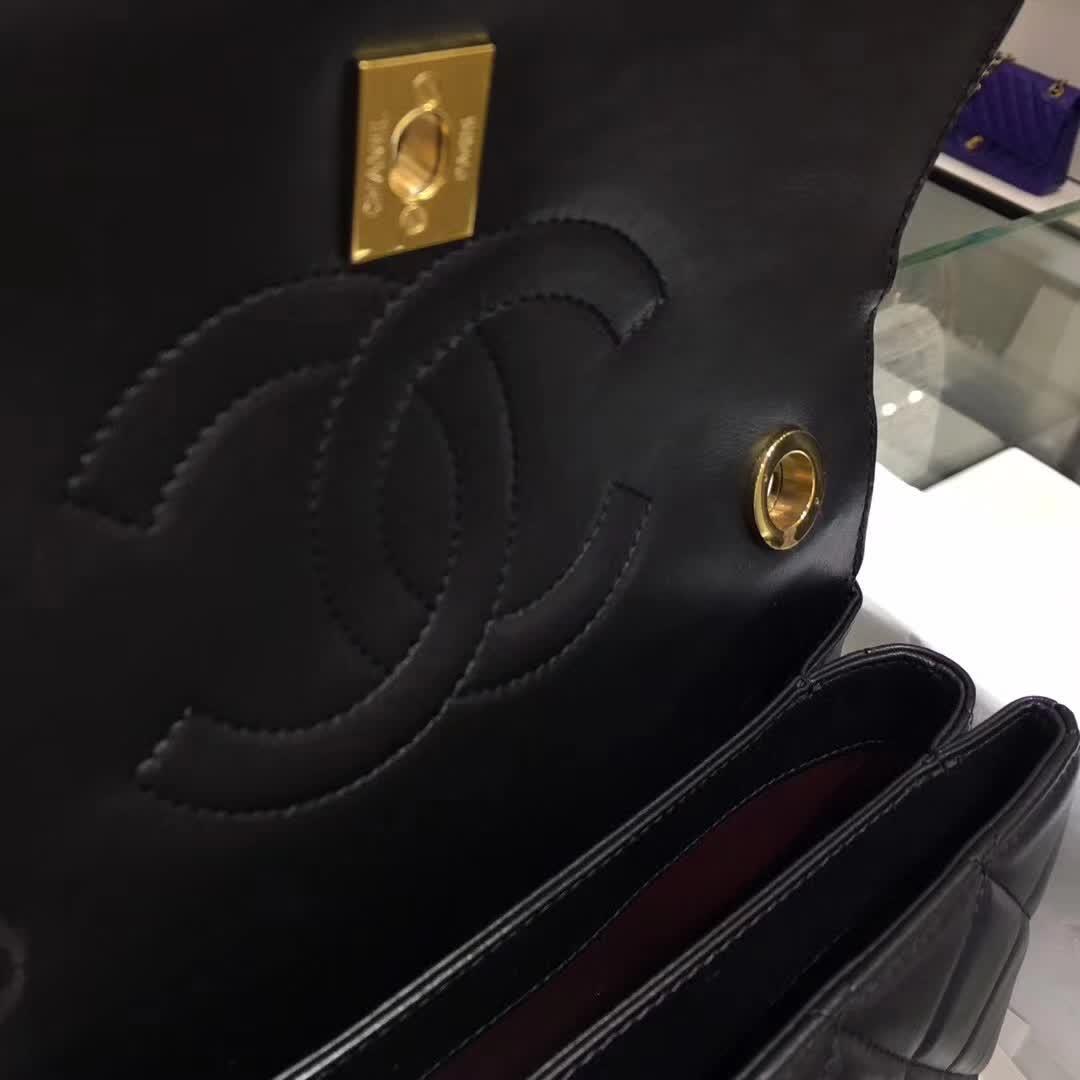Chanel 香奈儿 Trendy 小羊皮 黑色 25cm 金色