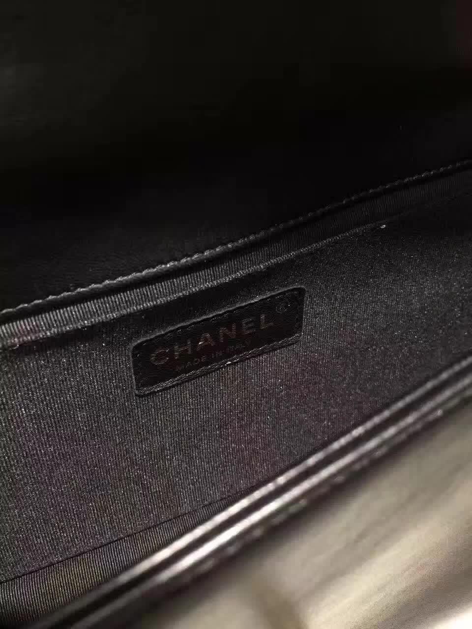 厂家直销 Chanel 香奈儿 Leboy  羊皮 黑色 25cm 古金五金