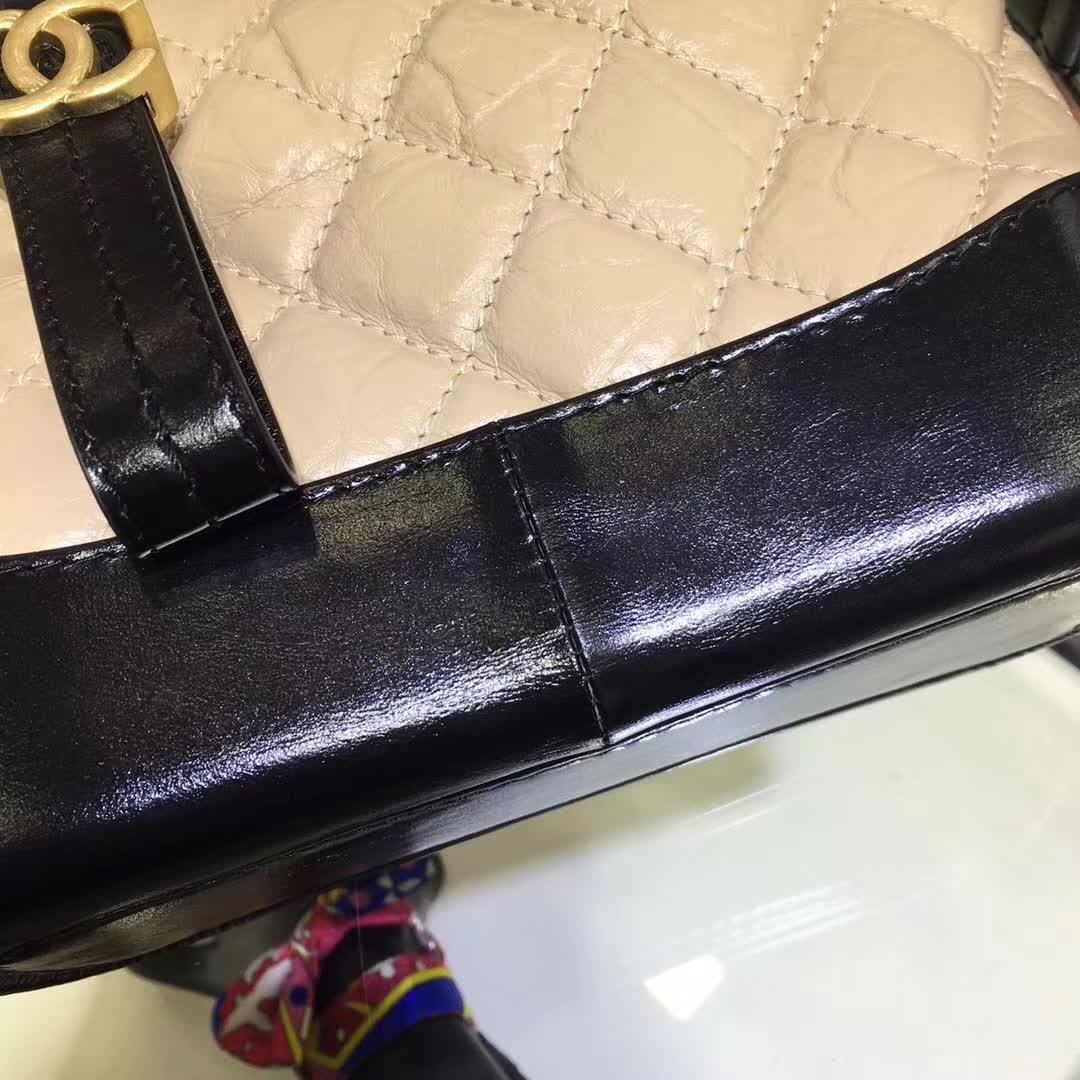 Chanel 香奈儿 流浪包 20cm 杏色厂家直销 广州白云皮具城