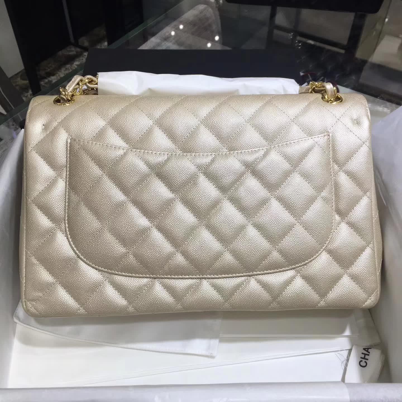 Chanel 香奈儿 Classic Flap 小鱼子酱 金 30cm 五金:金