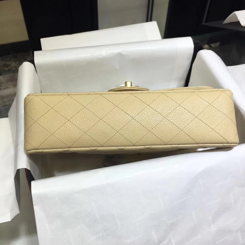 Chanel 香奈儿 Classic Flap 鱼子酱 杏色 25cm 金色五金