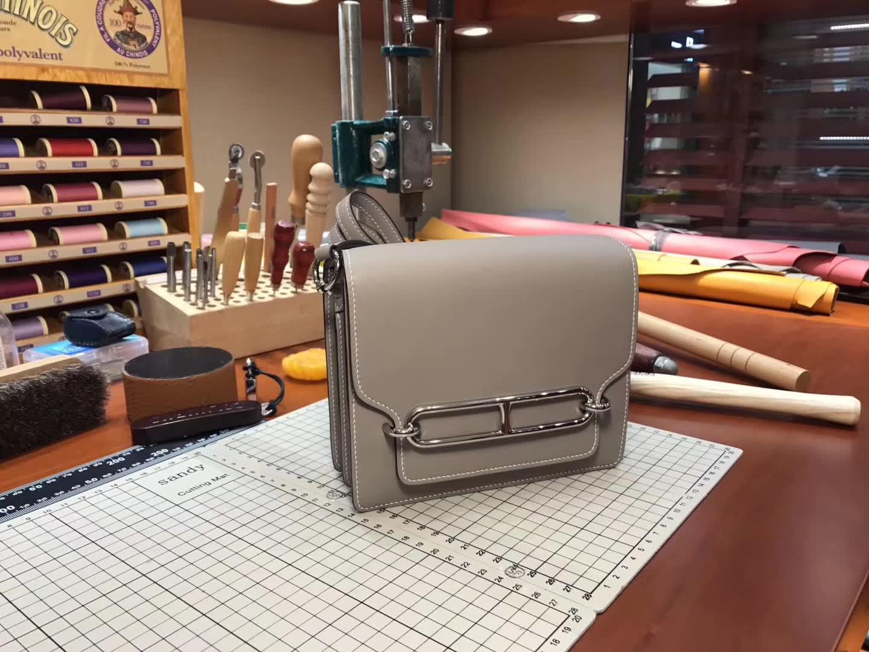 Hermes Roulis mini 19 8F 錫器灰 Etain 爱马仕官网同步 专柜断货颜色