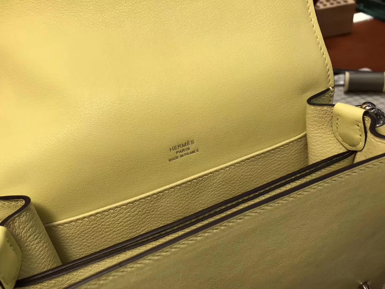 Hermes Roulis mini 19 c9 鹅蛋黄 soufre 爱马仕官网同步 专柜断货颜色