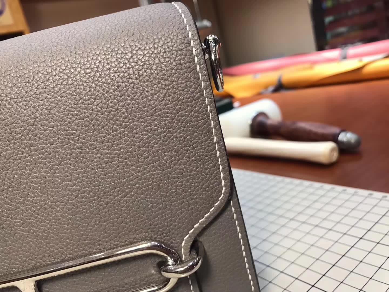 Hermes Roulis mini 19 8f 银锡灰 锡器灰 etain 爱马仕官网同步 专柜断货颜色