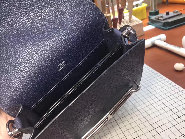 Hermes Roulis mini 19 风暴蓝 爱马仕官网同步 专柜断货颜色