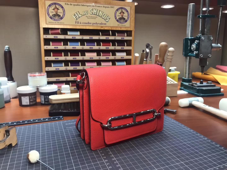 Hermes Roulis mini 19 s5 番茄红 rouge tomate 爱马仕官网同步 专柜断货颜色