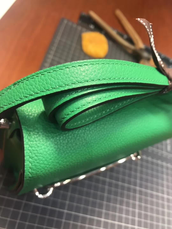 Hermes Roulis mini 19 竹子绿 1k bambou 爱马仕官网同步 专柜断货颜色
