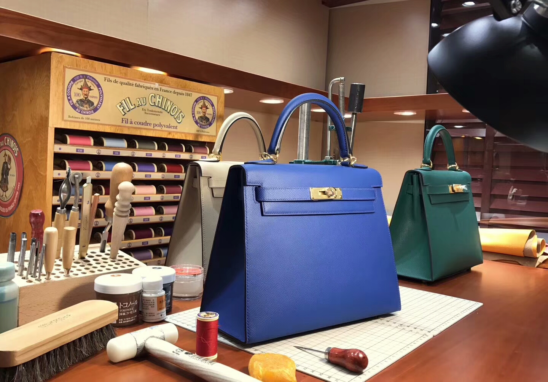 CC73 宝石蓝 Blue Saphir Kelly  28CM 现货系列 配全套专柜原版包装