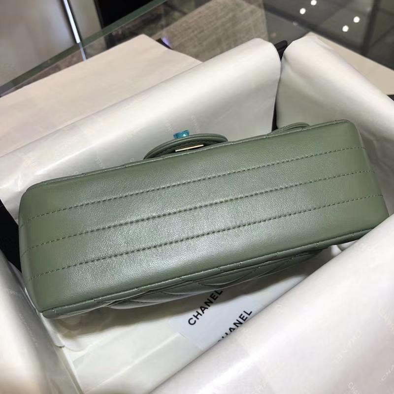 CHANEL 香奈儿 V字绣 希腊绿 20cm 超美 客订 少量现货 怀旧金