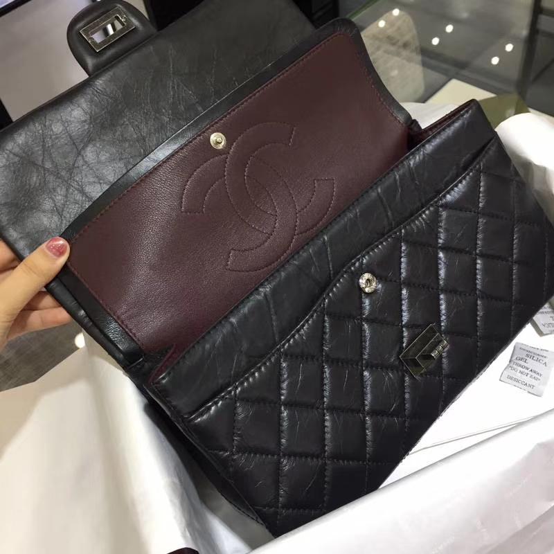 Chanel 香奈儿 经典2.55 复刻皮 黑色 古银 现货