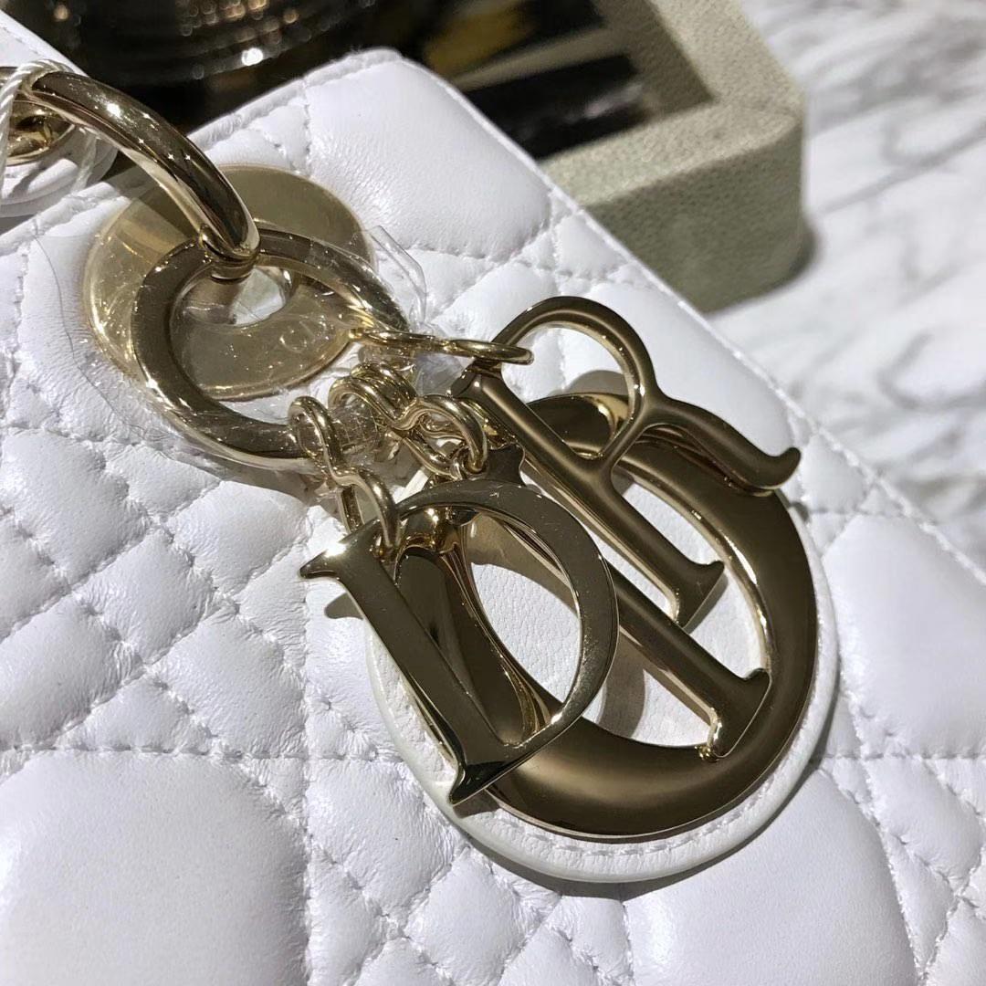 Dior 迪奥 四格戴妃包 金扣 进口小羊皮 意大利原厂皮料