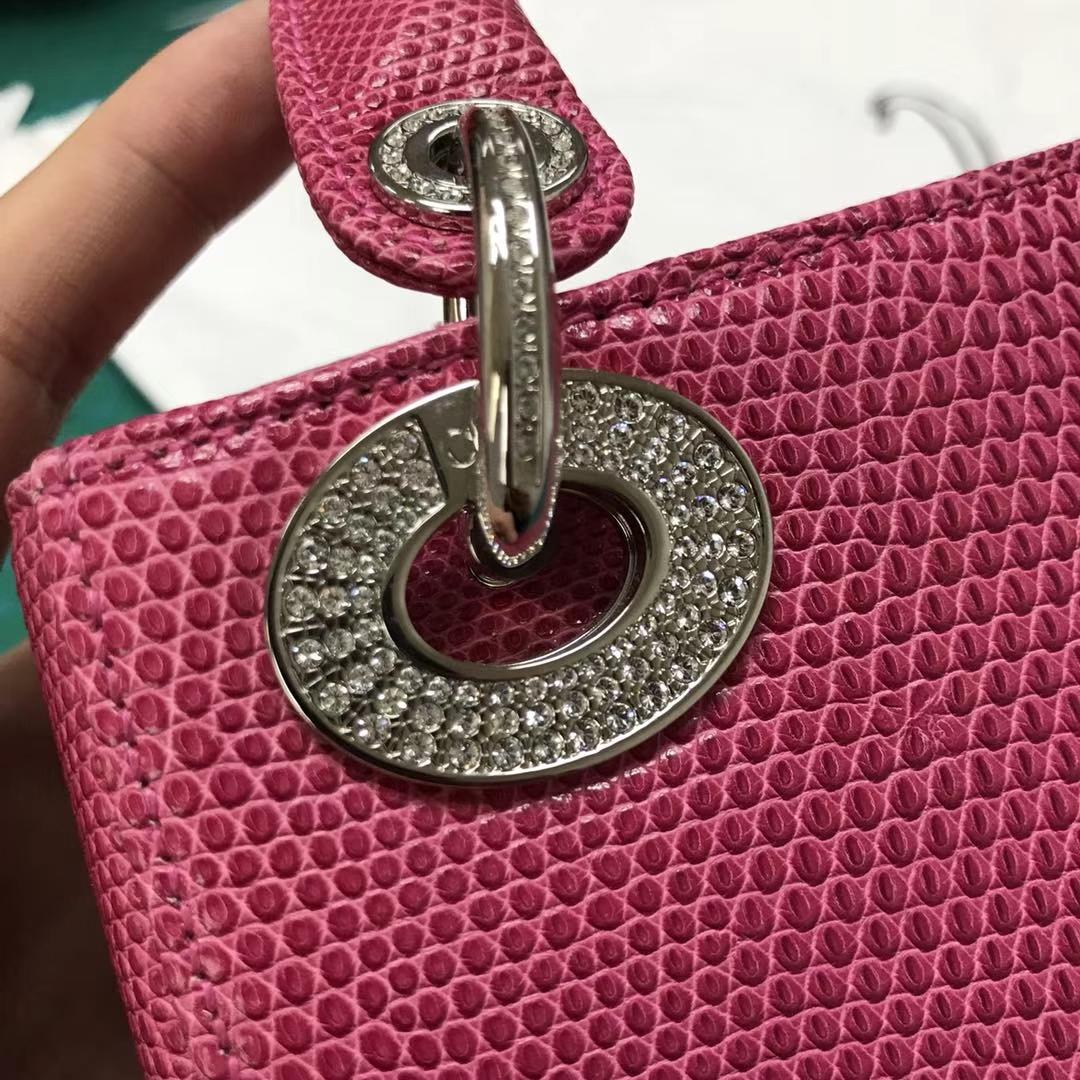 原版钻石扣三格17cm Lizard 蜥蜴皮 特殊蜥蜴皮Dior戴妃定制