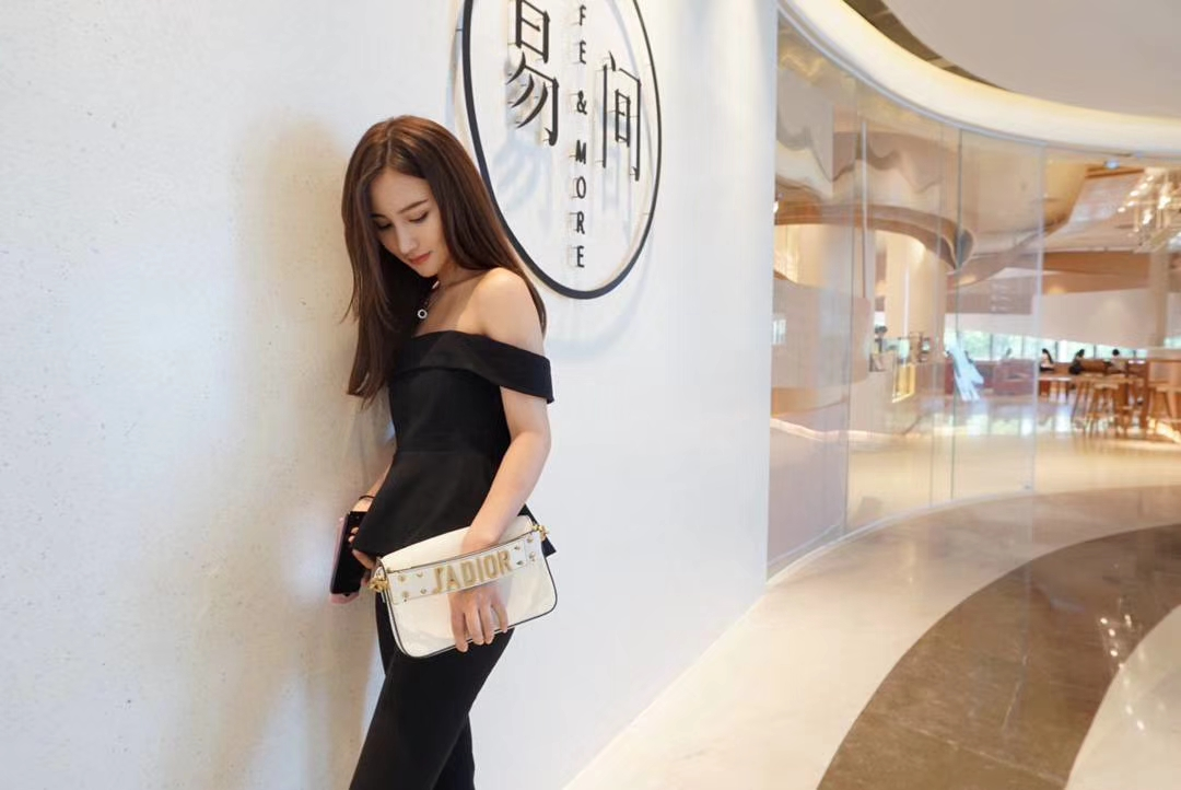 Dior 迪奥 网红同款 Dior手包 方便小巧实用 可搭配长肩带使用 白色