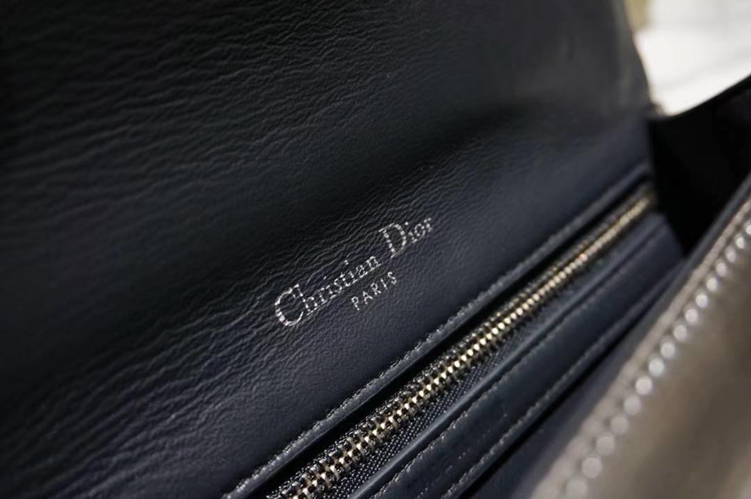 Dior 迪奥 腾格纹 金属银 21cm 实拍图