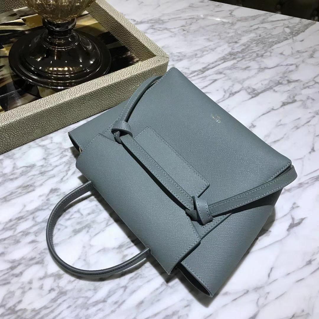 Celine 鲶鱼包mini 20cm  新色来袭 亚麻蓝 专柜新色