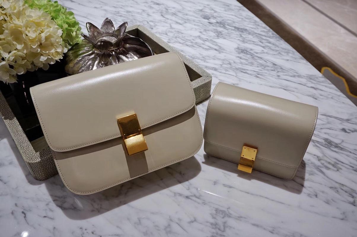 CÉLINE(赛琳)豆腐包 box 小号 16cm 中号 24cm 风衣灰