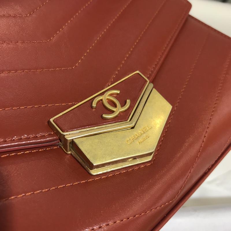 Chanel 香奈儿  2018巴黎汉堡系列 进口牛皮 斜跨包 中号16x7x23cm