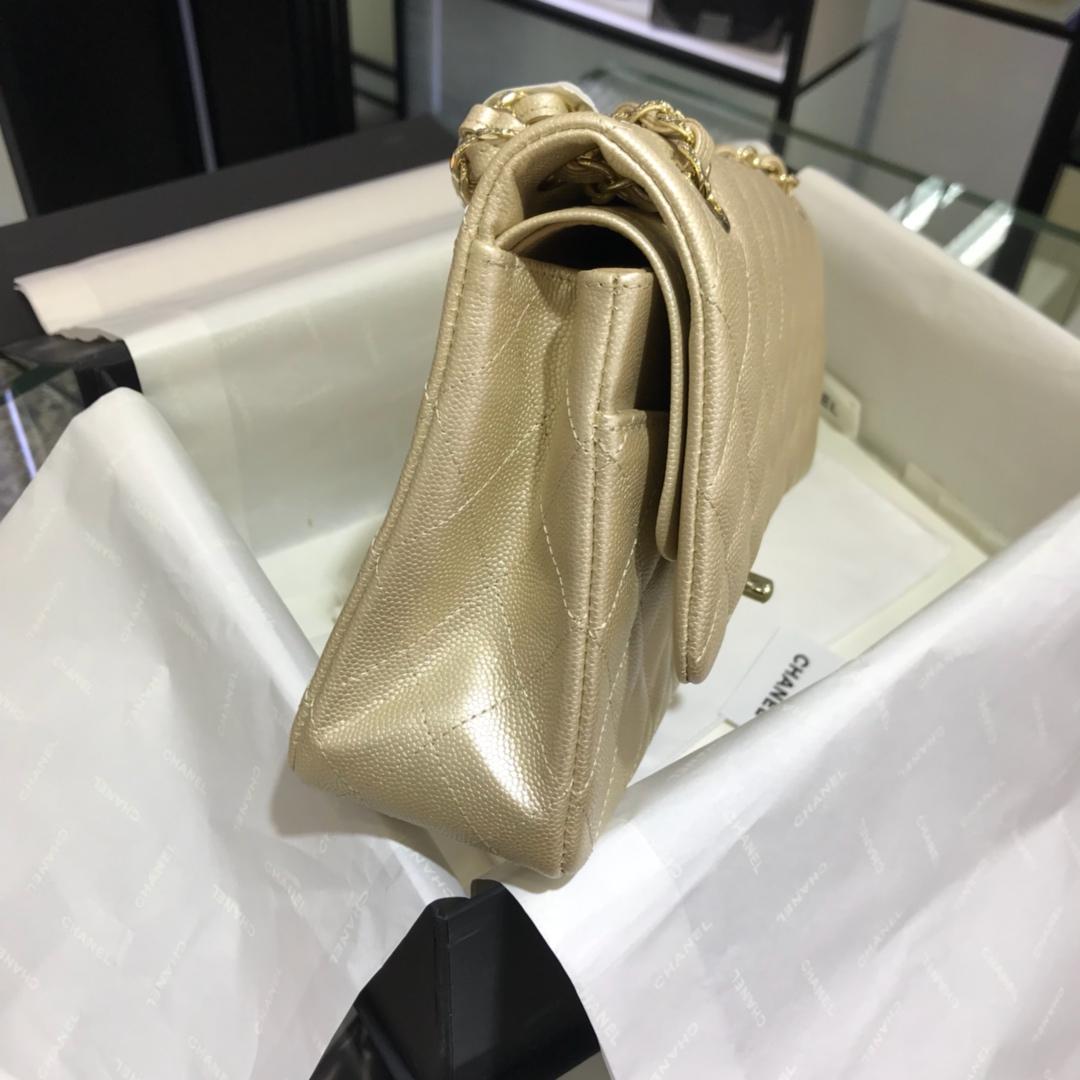 CF 小香最经典系列 小鱼子酱 香槟金色配玫瑰金五金 中号25cm 现货