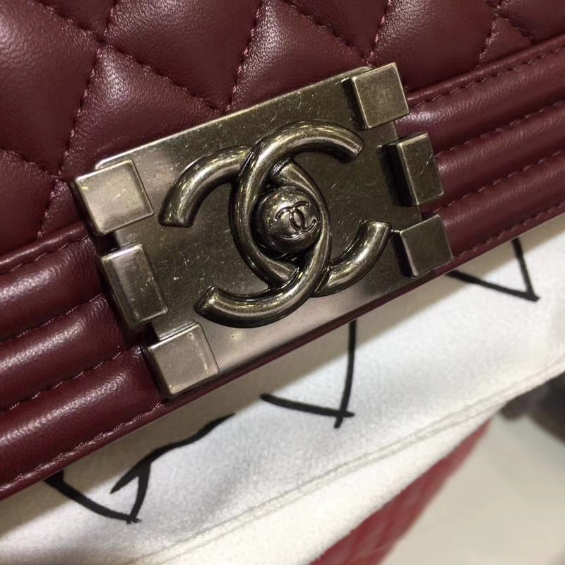 Chanel 香奈儿 leboy 25cm 小羊皮 古银 现货