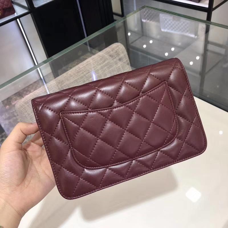 Chanel 香奈儿 2018 新款 发财包 枣红色 金银都有货