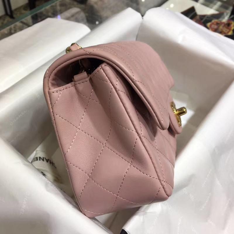 Chanel 香奈儿 Classic Flap Bag 进口小羊皮 20cm 现货 浅粉色 金扣