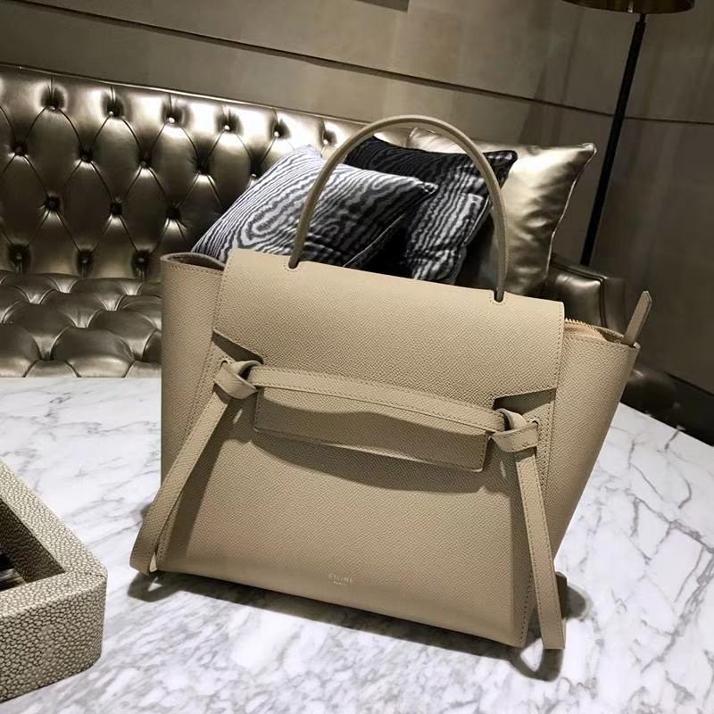 Celine鲶鱼包(24cm~27cm)风衣灰实拍  法国 进口掌纹牛皮原装YKK钢扣拉链