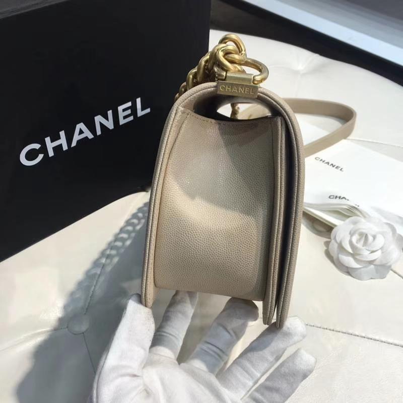 Chanel 香奈儿 Leboy 25CM 小鱼子酱 香槟金 纱金 大V款
