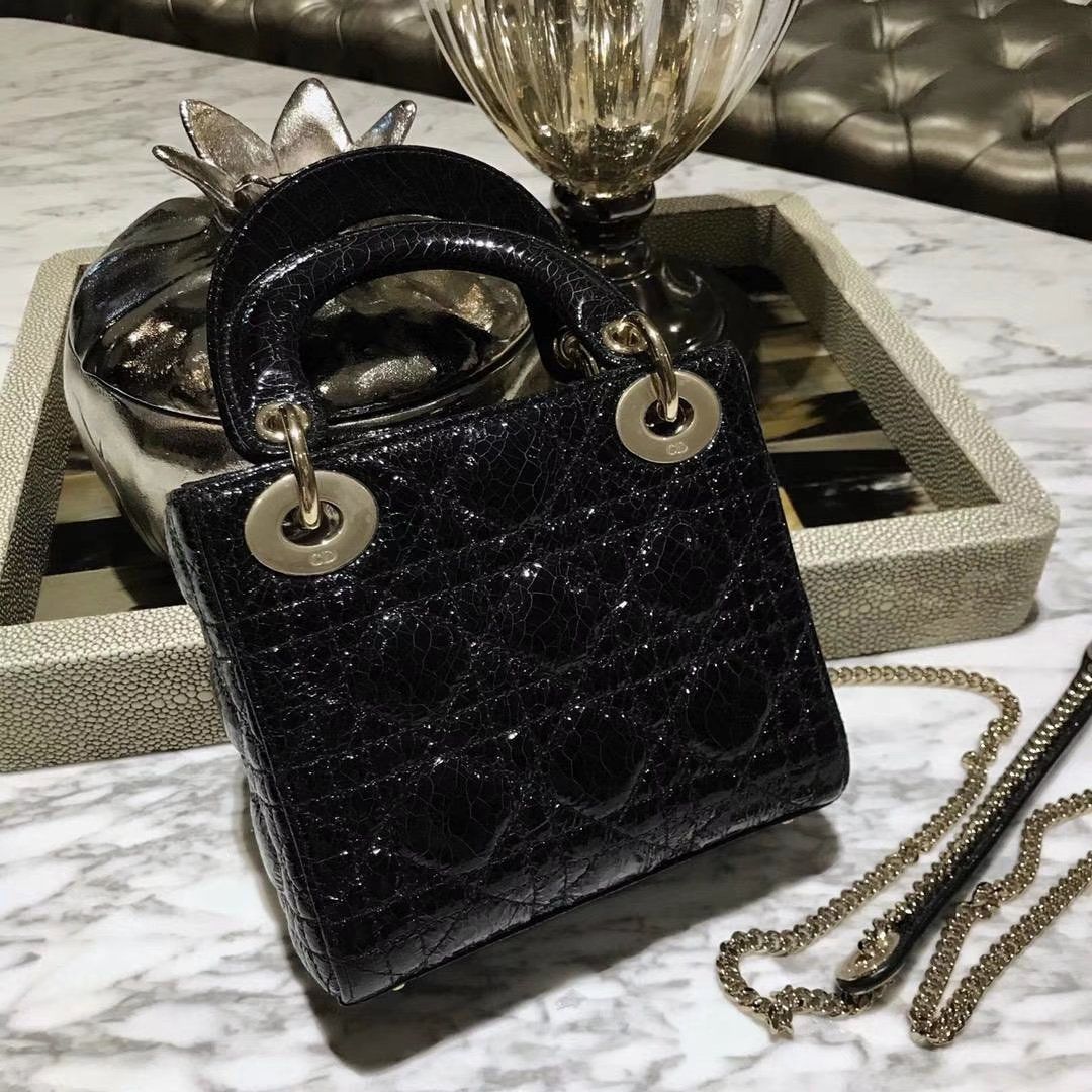 Dior 迪奥 新款来袭 来自意大利原厂皮料鹿皮爆裂纹黑色 实物绝对美到爆