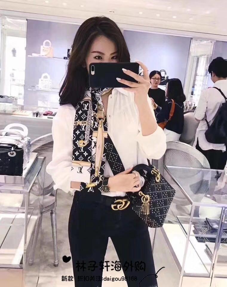 Dior 迪奥 定制版小号17cm铆钉包 戴妃包 Lady Dior mini 黑色