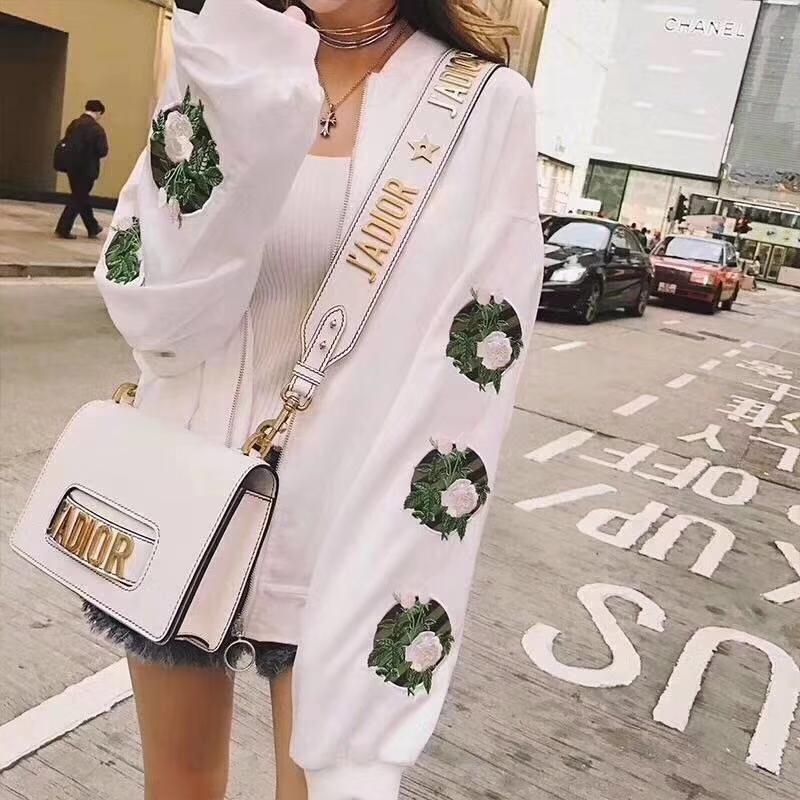 Dior 迪奥 翻盖式手提包 J'ADIOR 25cm牛皮 白色