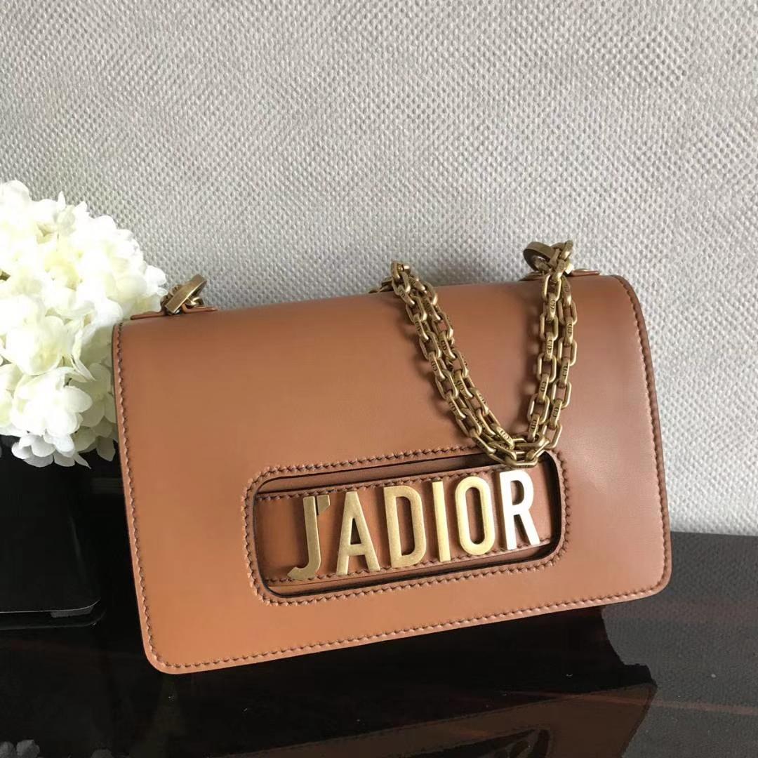 Dior 迪奥 翻盖式手提包 J'ADIOR 25cm牛皮 焦糖色