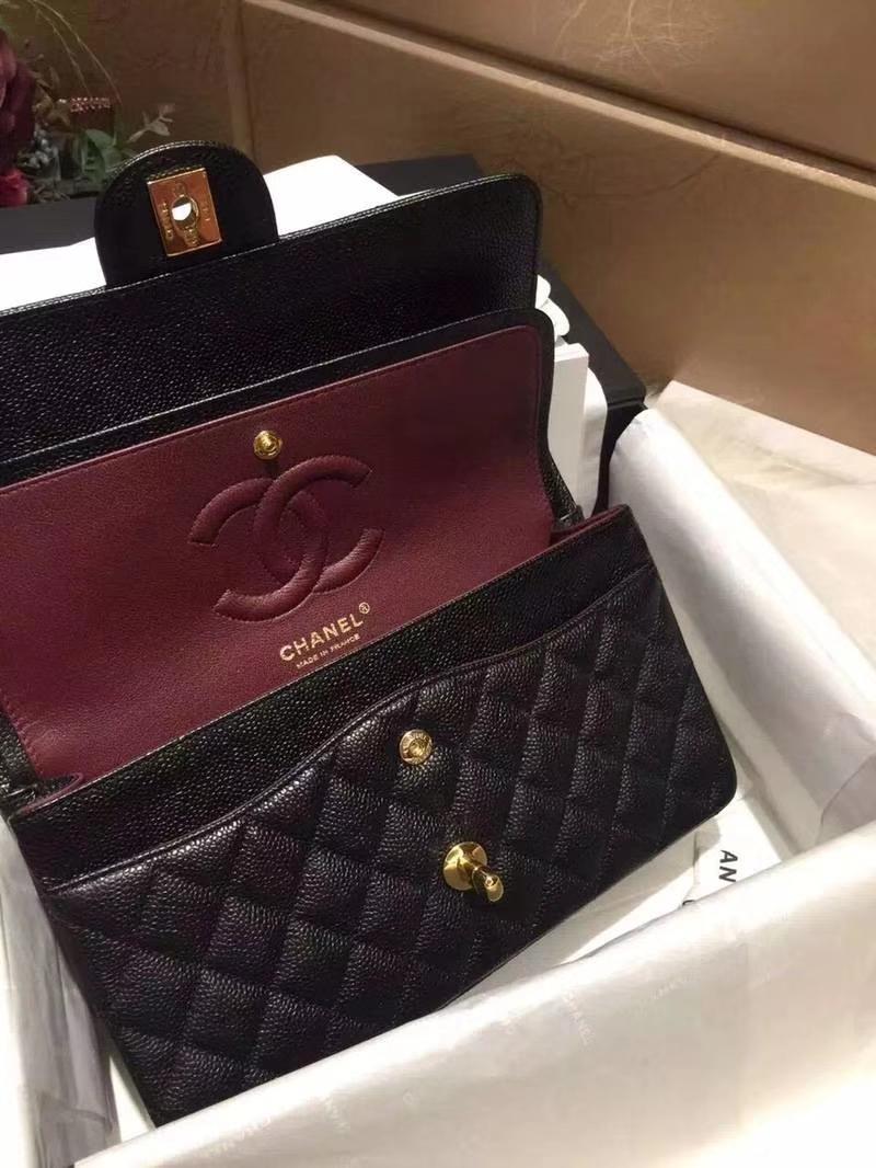Chanel 香奈儿 ClassicFlap 鱼子酱【黑色】 25cm  金(现货)