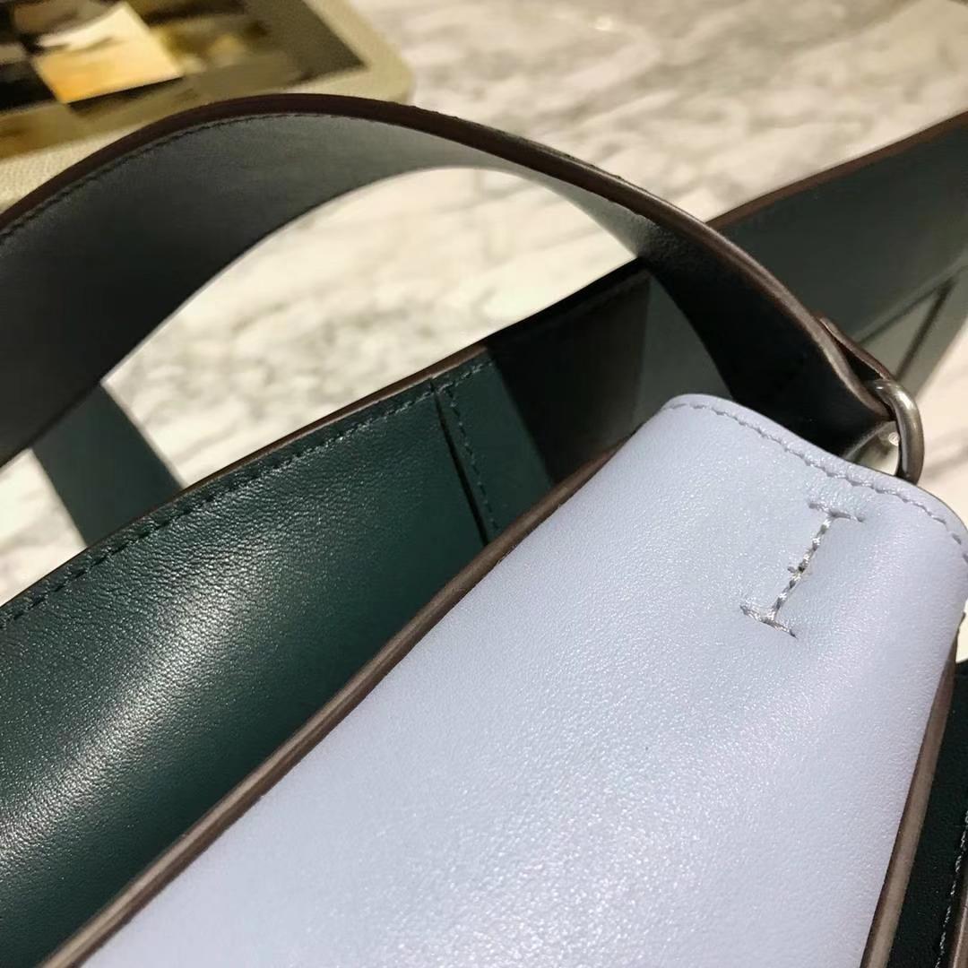Celine 思琳 Frame  明星 墨绿拼浅蓝 容量大 搭配皮肩带 一件代发 代购品质