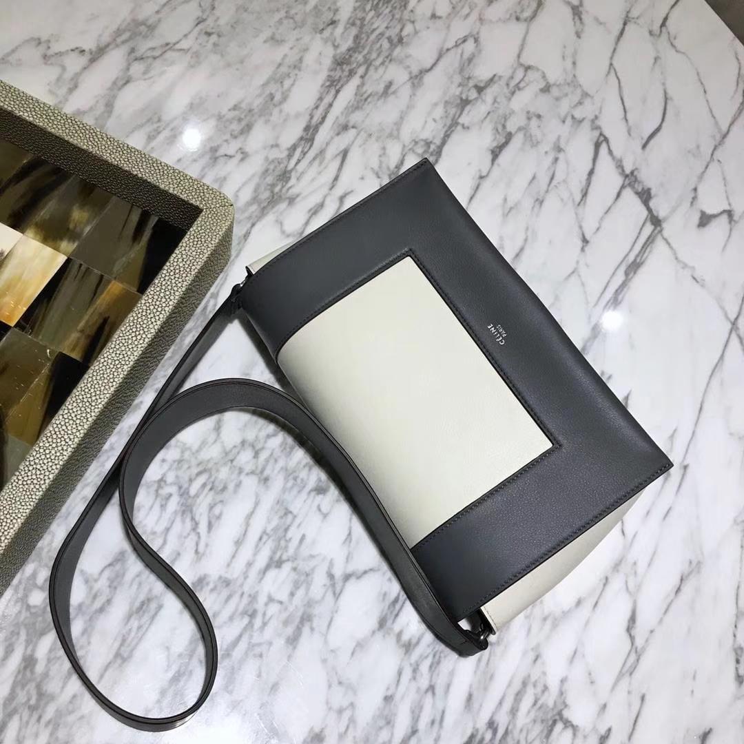 Celine 思琳 Frame 黑色拼白色 容量大 搭配皮肩带 一件代发 代购品质