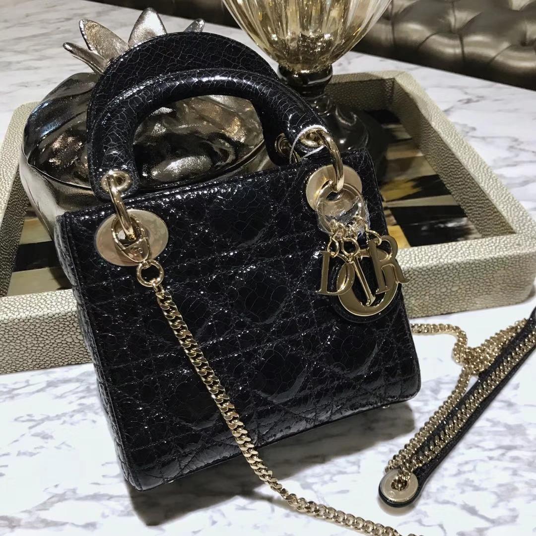 Dior 迪奥 新款来袭 意大利原厂皮料鹿皮爆裂纹 黑色 实物绝对美到爆