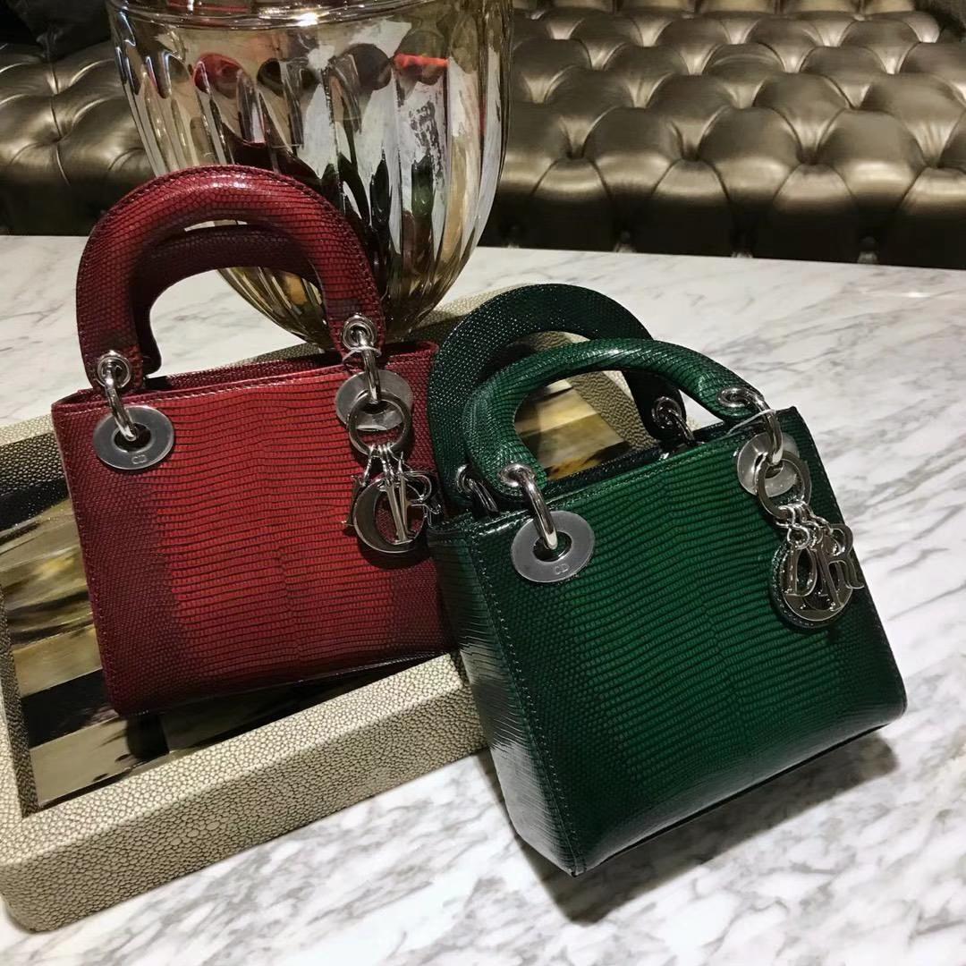 Dior 蜥蜴皮指定供应商印尼同厂皮料制作 100%正品还原版 老板娘推荐款 超值版