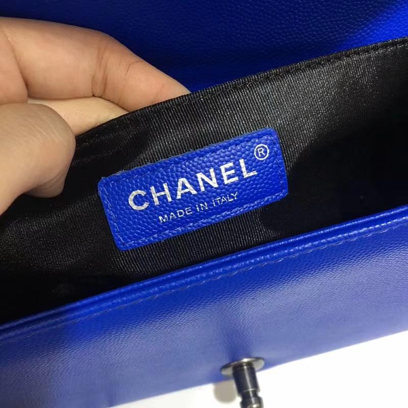Chanel 香奈儿 Leboy 球纹 电光蓝 25cm 古银 现货