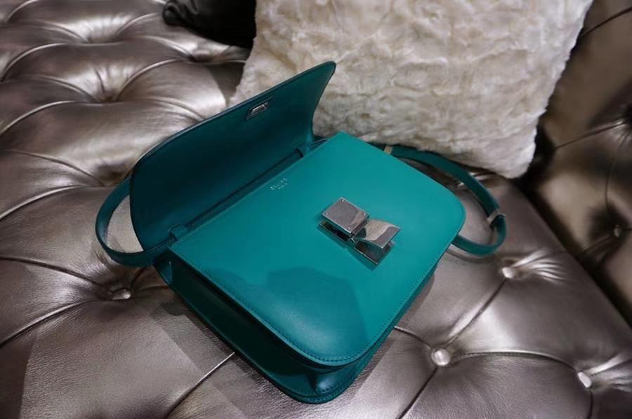 Celine 思琳 Box 豆腐包 贵族气质 box 孔雀绿